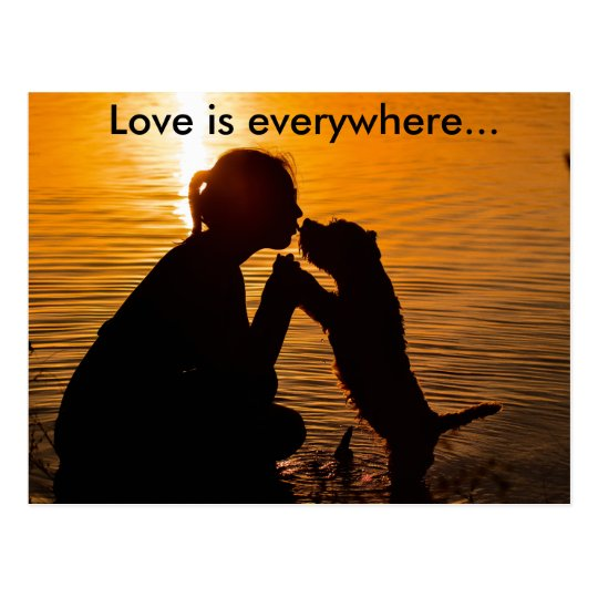 Love is everywhere - Postcard Postkarte