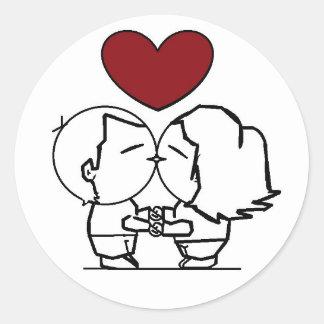 Love is in the air -, ist die Liebe in der Luft Runder Aufkleber