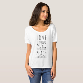 Love, Music & Peace T-Shirt