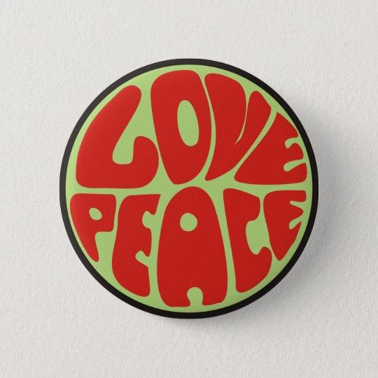 love peace Hippie Spruch Runder Button 5,1 Cm