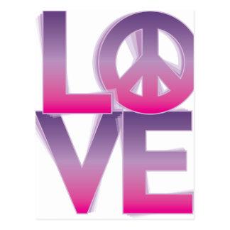 LOVE=Peace Postkarte