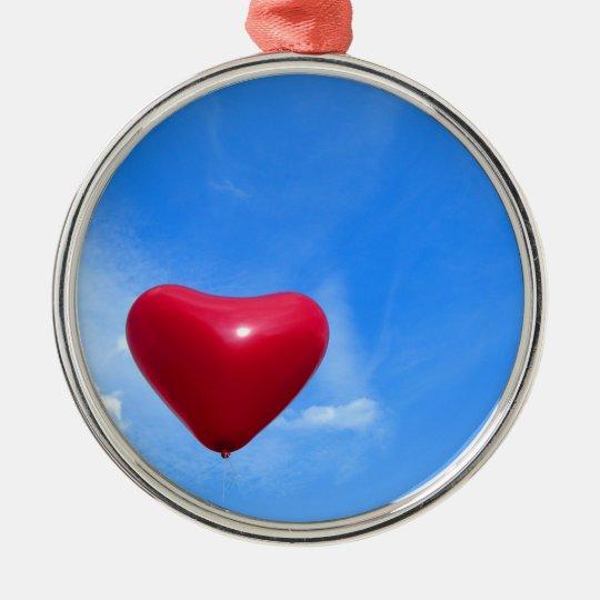 LOVE RUNDES SILBERFARBENES ORNAMENT