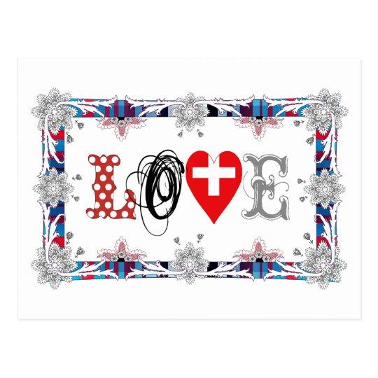 Love Switzerland Postkarte