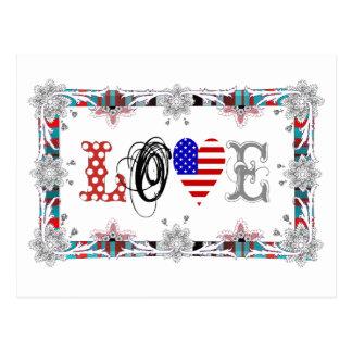 Love USA Postkarte