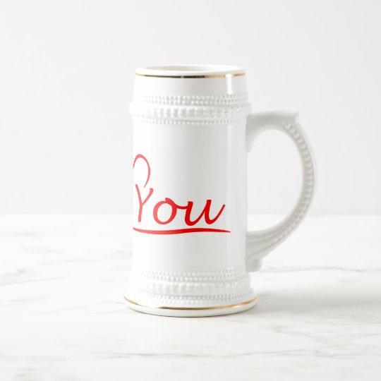Love You, Mein Herz ist immer offen für dich Bierglas
