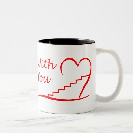 Love You, mit dir zusammen die Treppe hinauf Zweifarbige Tasse