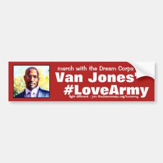 #LoveArmy Dank der Traumkorps und Vans Jones Autoaufkleber