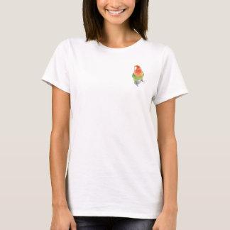 Lovebird auf Weiß T-Shirt