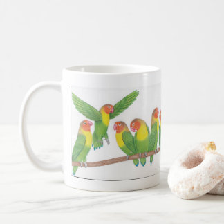 Lovebird-Cartoon-Tasse Kaffeetasse