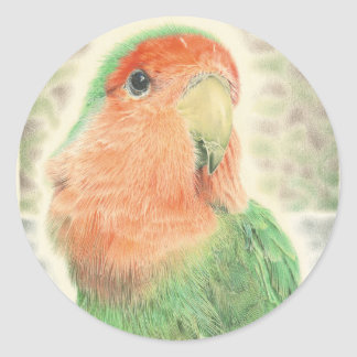 Lovebird-Pilaf Runder Aufkleber