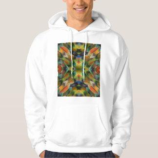 Lovebirdfeder-Kaleidoskop Hoodie