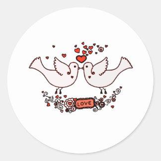 Lovebirds 2 runder aufkleber