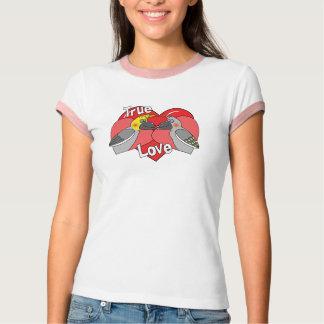 Lovebirds-Cartooncockatiels-Kleid T-Shirt