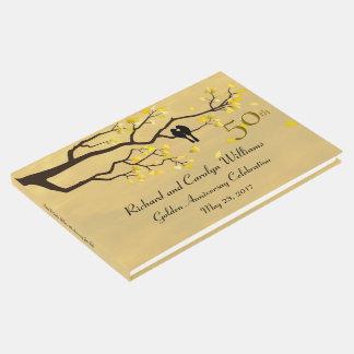 Lovebirds-goldener Jahrestag Gästebuch