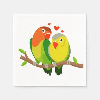 Lovebirds-grüne Hochzeit, Brautparty, Verlobung Serviette
