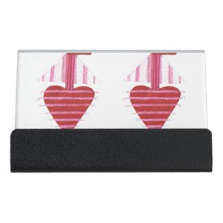 Loveheart Boots-Schreibtisch-Visitenkarte-Halter Schreibtisch-Visitenkartenhalter
