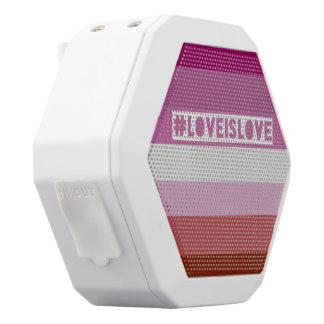 #LoveIsLove Boomkasten-Lautsprecher Weiße Bluetooth Lautsprecher