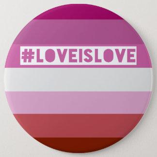 #LoveIsLove hashtag Abzeichen Runder Button 15,3 Cm