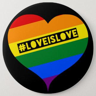 #LoveIsLove hashtag Knopf-Abzeichen Runder Button 15,3 Cm
