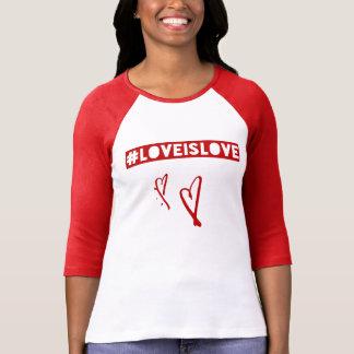 #LoveIsLove hashtag T-Shirt