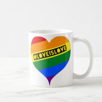 #LoveIsLove hashtag Tasse