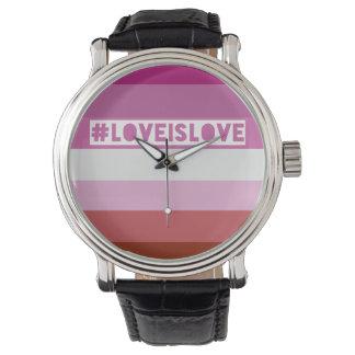 #LoveIsLove hashtag Uhr