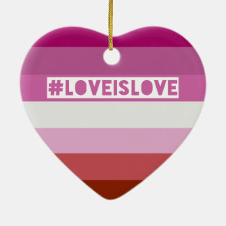 #LoveIsLove hashtag Verzierung Keramik Herz-Ornament