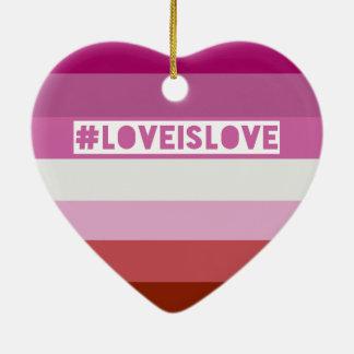 #LoveIsLove hashtag Verzierung Keramik Ornament