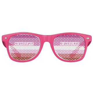 #LoveIsLove retro Partyschatten Retro Sonnenbrillen