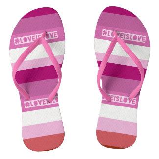 #LoveIsLove Zapfen Flip Flops