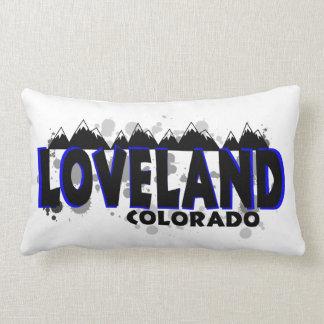 Loveland Colorado künstlerisches Farbe splats Kissen