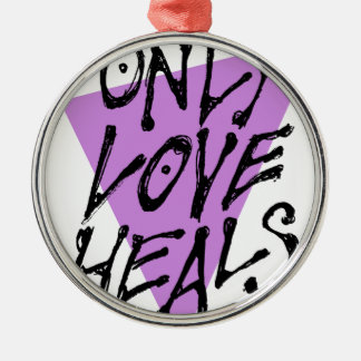 LOVES-HEAL RUNDES SILBERFARBENES ORNAMENT