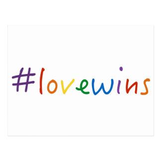 #lovewins Liebe gewinnt Gleichheitsstolz der Postkarte