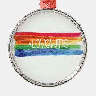 #LoveWins Silbernes Ornament