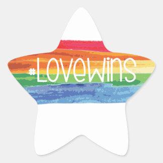 #LoveWins Stern-Aufkleber