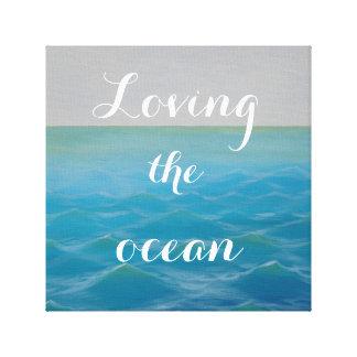 Loving the ocean SURF ART Leinwanddruck