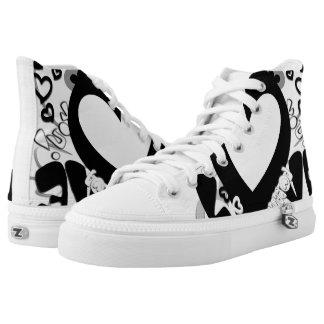 Lovito Zipz hohe Spitzenschuhe, Frauen 6 Hoch-geschnittene Sneaker