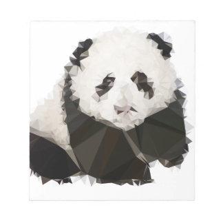 Low Poly Panda Notizblock