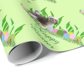 Lowchen mit Gras und Eiern Geschenkpapier