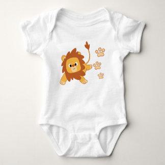 Löwe-Abdruck-Baby-Jersey-Bodysuit Baby Strampler