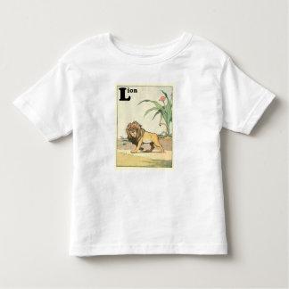 Löwe auf dem Wüsten-Savanne-Alphabet Kleinkind T-shirt
