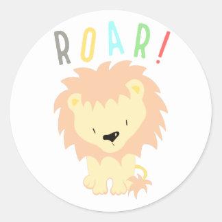 Löwe-Brüllen Runder Aufkleber