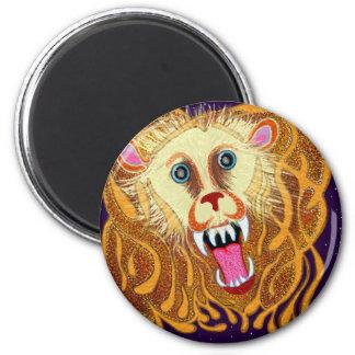 Löwe der goldene Löwe Runder Magnet 5,1 Cm