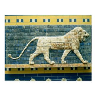 Löwe, der Ishtar darstellt Postkarte
