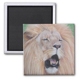 Löwe, der Tier-Realist-Kunstentwurf der großen Quadratischer Magnet