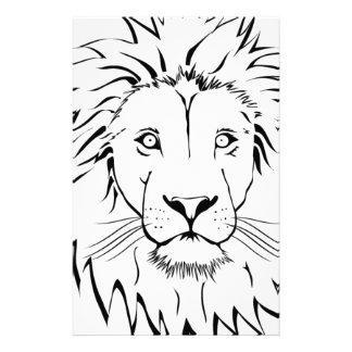 Löwe, der vektorentwurf zeichnet briefpapier
