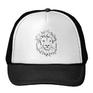 Löwe, der vektorentwurf zeichnet kult cap