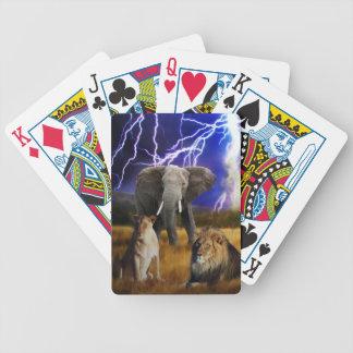 Löwe-Elefant Südafrika Bicycle Spielkarten