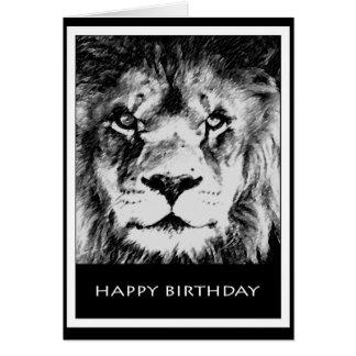 Löwe-Geburtstags-Karte II Karte