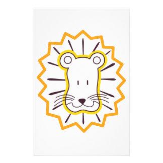 Löwe-Gesicht Briefpapier